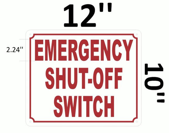 EMERGENCY SHUT-OFF SWITCH White