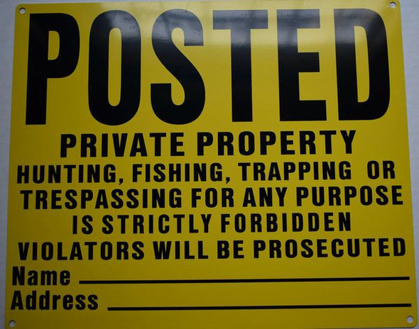 NO TRESPASSING SIGN for Building