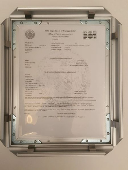 DEPARTMENT OF TRANSPORTATION PERMIT  FRAME  for Building