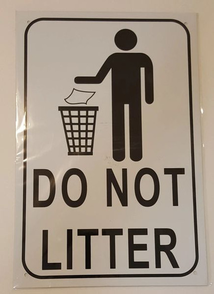 DO NOT LITTER SIGNAGE