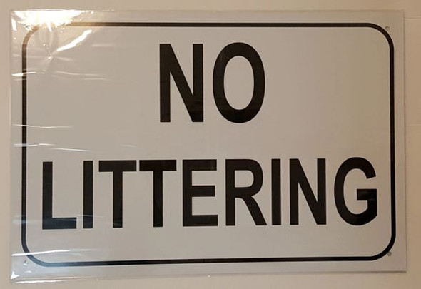 NO LITTERING SIGN for Building