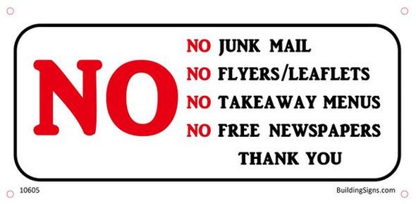 No Junk Mail Sign