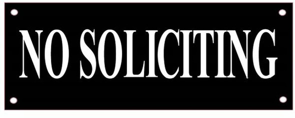 NO SOLICITING SignBACKGROUND