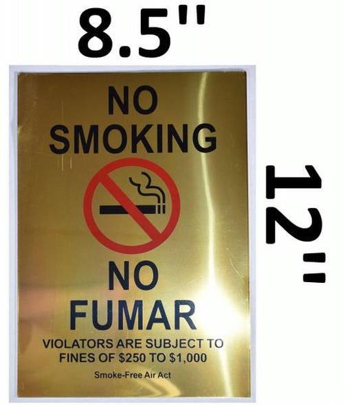 NO SMOKING VIOLATORS ARE SUBJECT TO FINES OF $250-$1,000 Smoke free Air Act for Building
