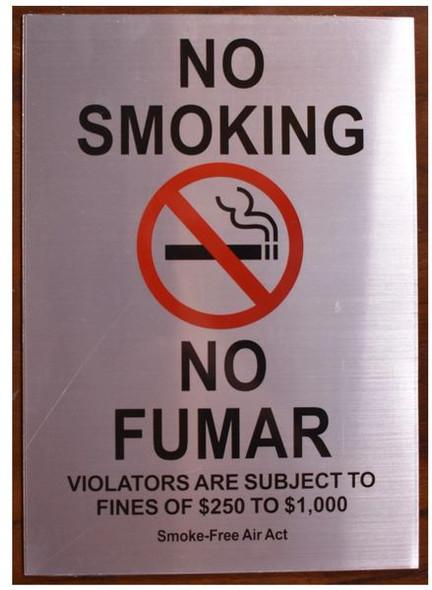 NO SMOKING NO FUMAR SIGN
