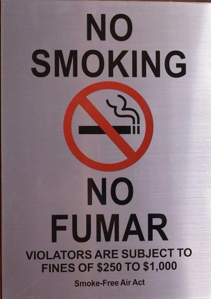 NO SMOKING NO FUMAR SIGN for Building
