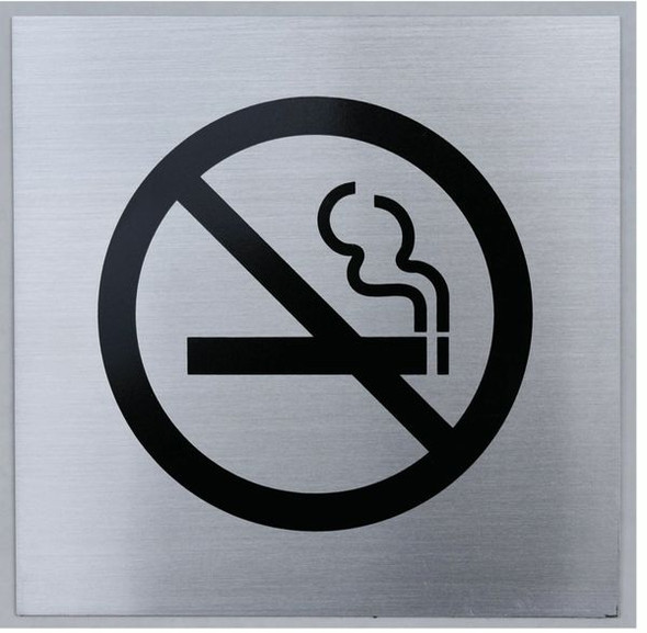 NO SMOKING SYMBOL Sign -The pennello d'argento line