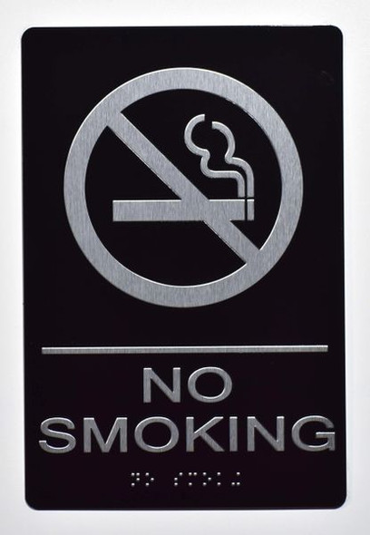 NO SMOKING Sign -Tactile Signs Tactile Signs  - BRAILLE  Ada sign