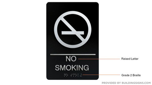 NO SMOKING Sign -Tactile Signs Tactile Signs  - BRAILLE   Braille sign