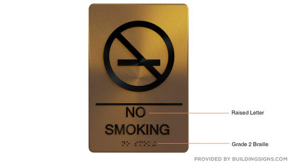 NO SMOKING Sign -Tactile Signs Tactile Signs  Braille sign