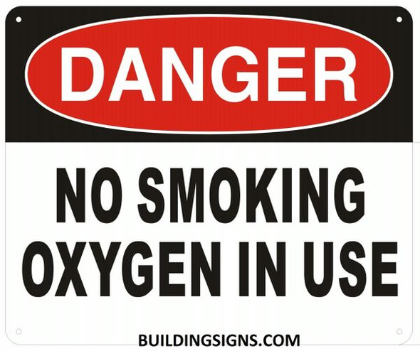 DANGER NO SMOKING OXYGEN IN USE SignWB