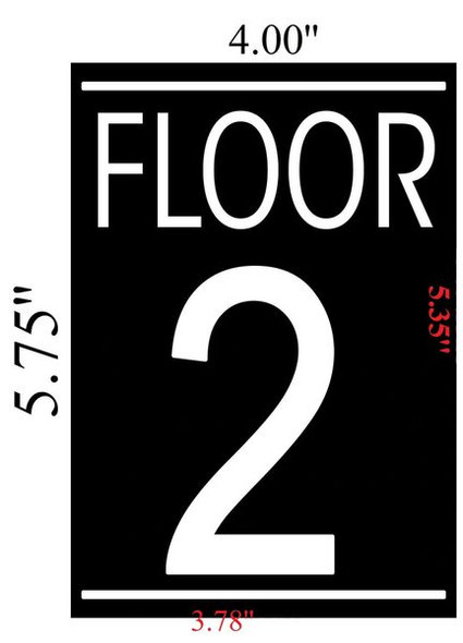 FLOOR NUMBER TWO (2) SIGN for Building