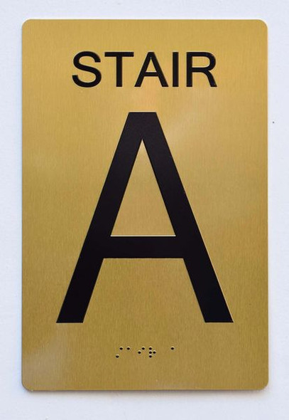 STAIR A SIGN Tactile Signs Ada sign