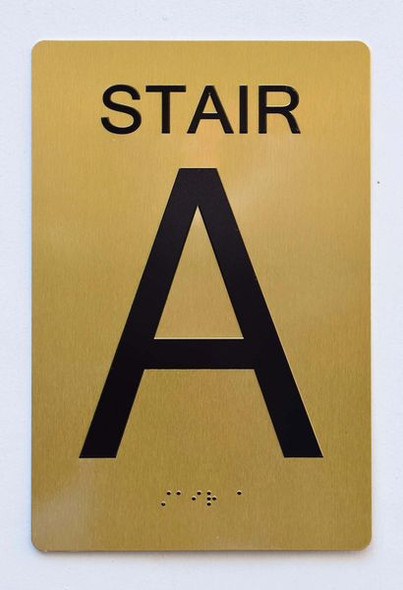 STAIR A SIGN Tactile Signs  Braille sign