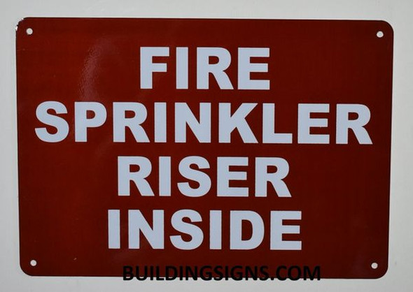 FIRE SPRINKLER RISER INSIDE SIGN for Building