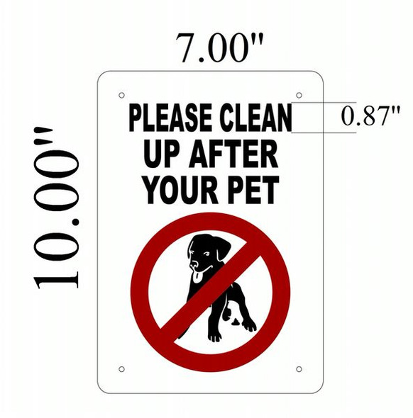 PLEASE CLEAN UP AFTER YOUR PET Signage- ALUMINUM