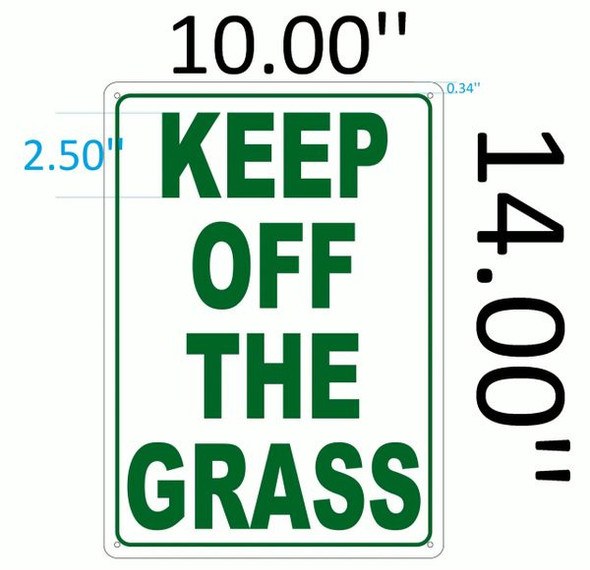 KEEP OFF THE GRASS Signage