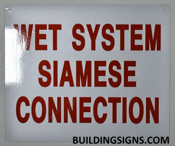 WET SYSTEM SIAMESE CONNECTION SIGN for Building