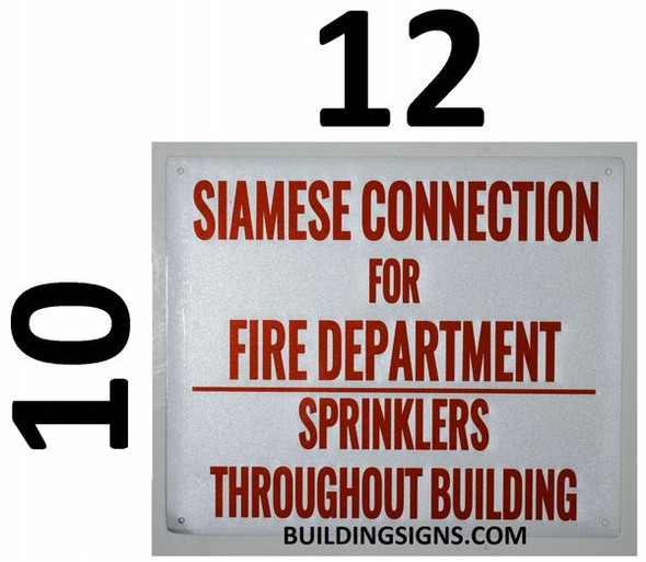 SIAMESE CONNECTION FOR FIRE DEPARTMENT SIGN for Building