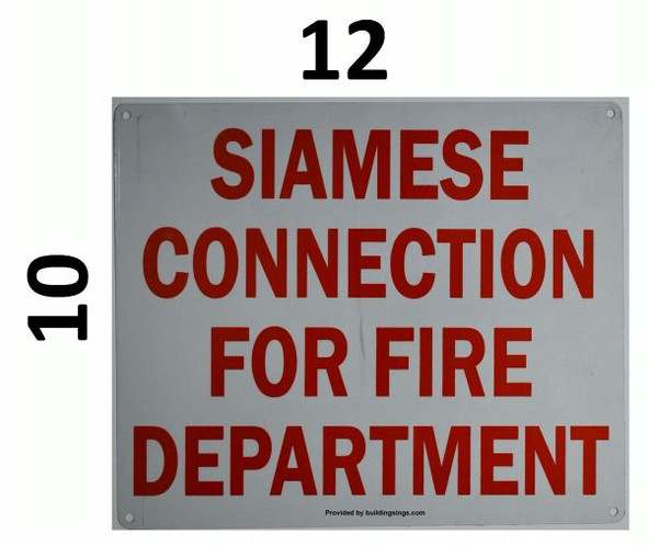 SIAMESE CONNECTION FOR FIRE DEPARTMENT Signage