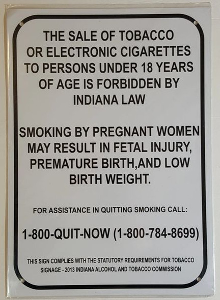SALE OF TOBACCO AND ELECTRONIC CIGARETTES SIGN