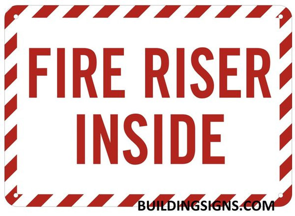 FIRE RISER INSIDE Sign