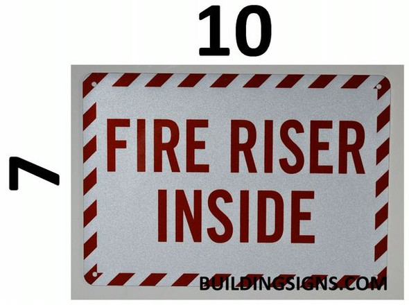 FIRE RISER INSIDE SIGN for Building