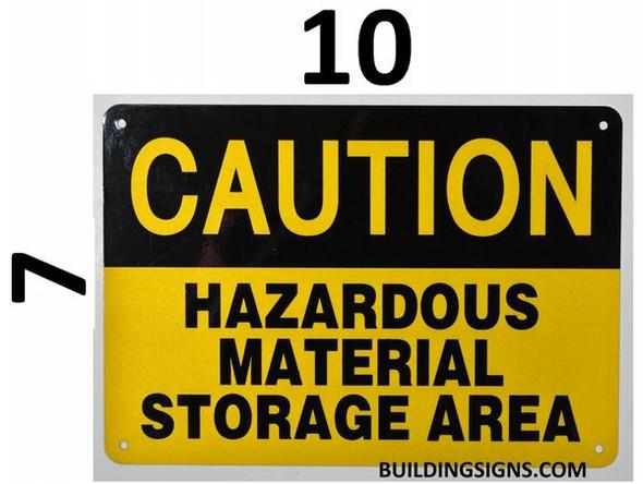 CAUTION HAZARDOUS MATERIAL STORAGE AREA SIGN for Building