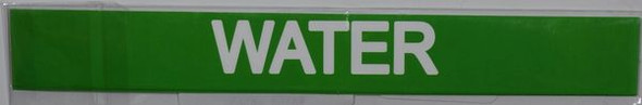 WATER STICKER Sign Green