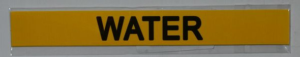 WATER Yellow STICKER SIGN
