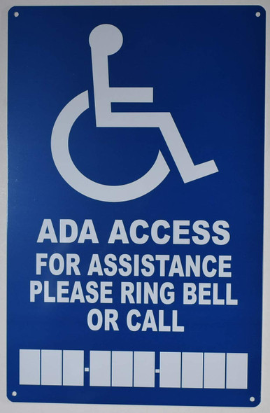 for Assistance Please Ring Bell OR Call Sign for Building