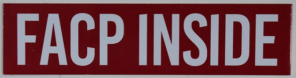 Facp Inside Sign (,Double Sided Tape, Aluminium, Rust Free)