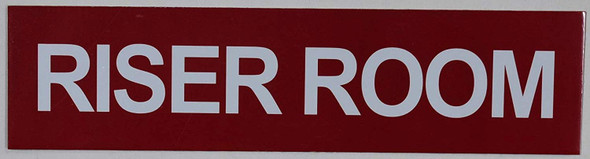 Riser Room Sign for Building