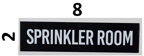 Sprinkler Room Sign Black
