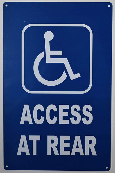 ADA Access at Rear Sign -The Pour Tous Blue LINE