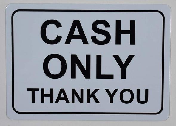 Cash only Signage
