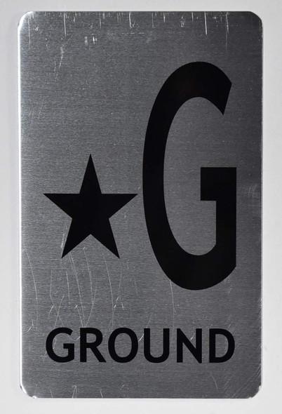 Star Ground Floor Number Sign