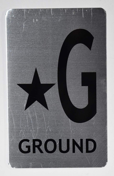 Star Ground Floor Number Sign for Building