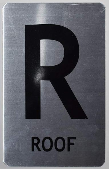 ROOF Sign (Brush Aluminium,)-The Mont Argent line.