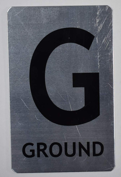 Ground Floor Number Sign for Building