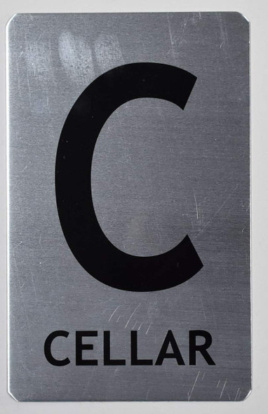 Cellar Sign (Brush Aluminium,)-The Mont Argent line.