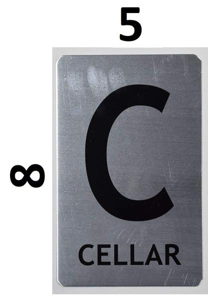 Cellar SIGNAGE (Brush Aluminium,)-The Mont Argent line.