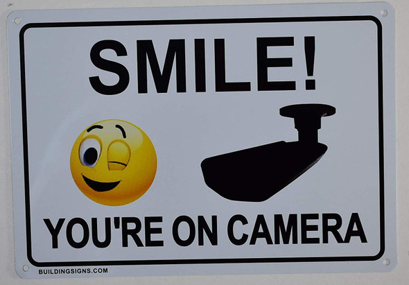 2 Pack -Smile You're On Camera Sign
