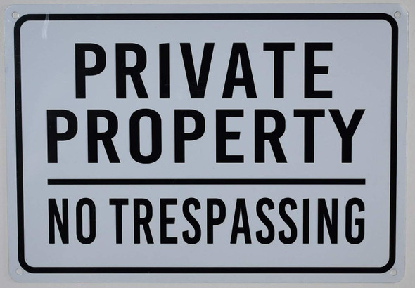 Pack- Private Property No Trespassing Sign