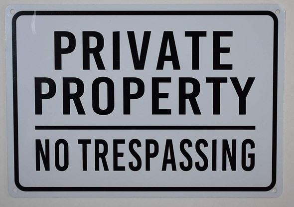 Pack- Private Property No Trespassing Sign for Building