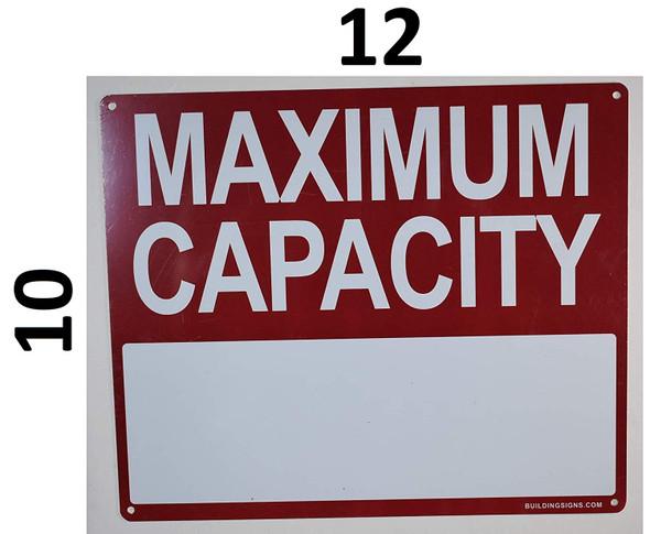 Maximum Capacity Sign for Buildings
