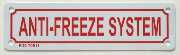 ANTI-FREEZE SYSTEM Sign White