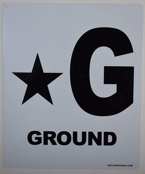 Star Ground Floor Sign for Buildings