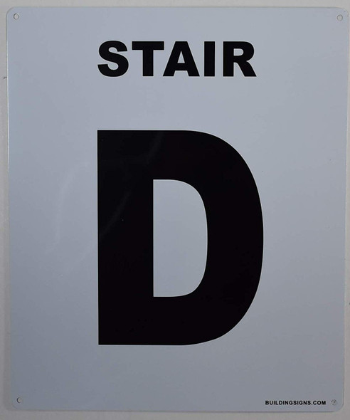 Stair D Sign for Buildings