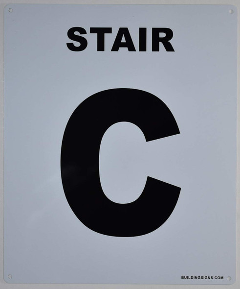 Stair C Sign for Buildings
